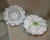 Handmade fabric doilies