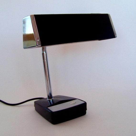 Black & Chrome Industrial Desk Lamp