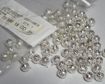 Silver Colored Filigree Beads