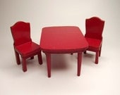 Kitchen Table and Chairs in Red