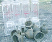 Vintage Hygeia Glass Baby Bottles by Duraglas set of 8 c.1940's