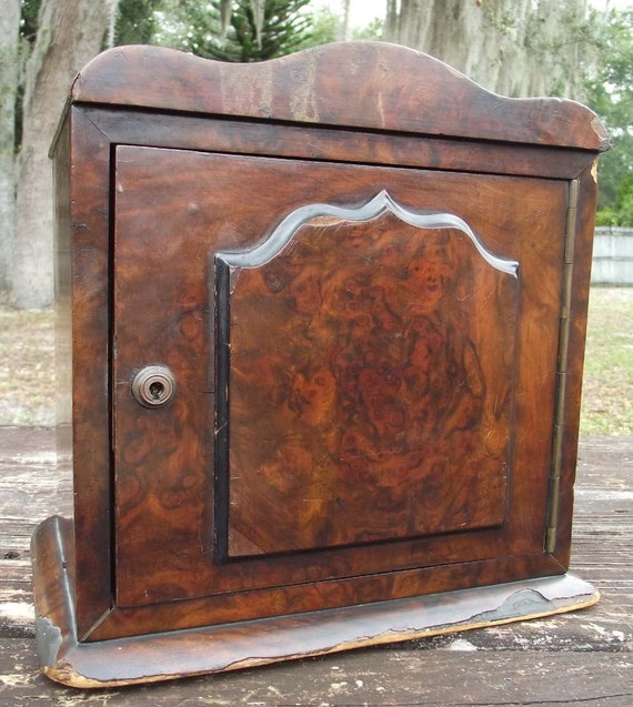 Vintage Mahogany Wood Jewelry Chest of Drawers
