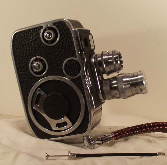 bolex b8 8mm movie camera outfit. Black Bedroom Furniture Sets. Home Design Ideas