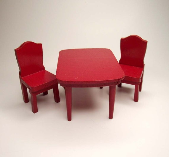 Red Kitchen Table And Chairs Set: Kitchen Table And Chairs In Red By RetroVintageBazaar On Etsy