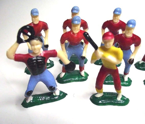 Vintage Baseball Team Cake Toppers