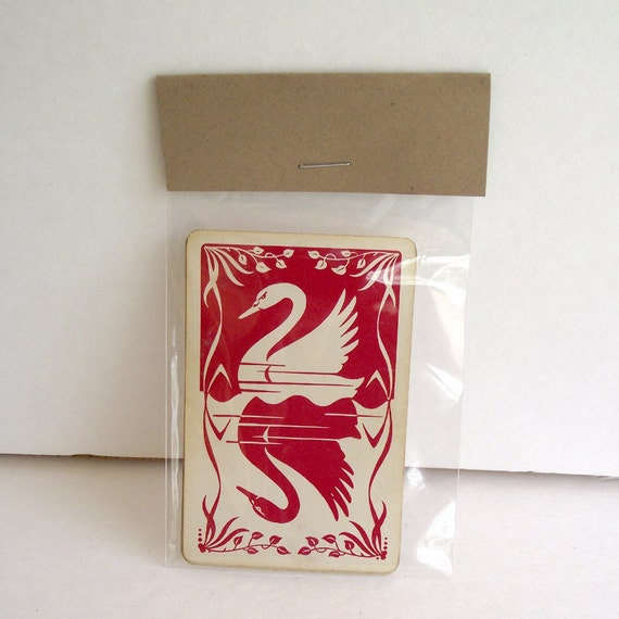 Vintage Playing Cards for Paper Crafting Projects set of 6
