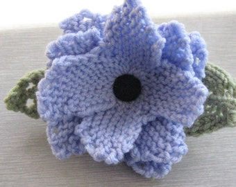 Knitted Flower Corsage Pin