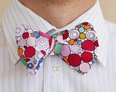 Bow Tie - a quirky and colorful patterned adjustable bow tie