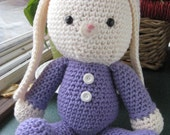 Amigurumi Crochet Bunny in Pajamas for Easter (Ready to Ship)