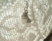 Moon stone silver earrings