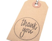 Kraft Thank You Tags Modern Rustic Gift favor