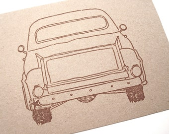 Old Truck Note Cards - Pick Up - Country Farmhouse Barn Wedding - Blank Stationery - Thank You Cards - Kraft Paper