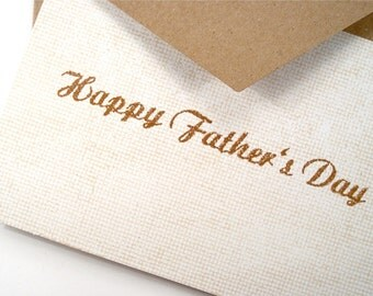 Father's Day Card - Dad - Simple Blank Note Card