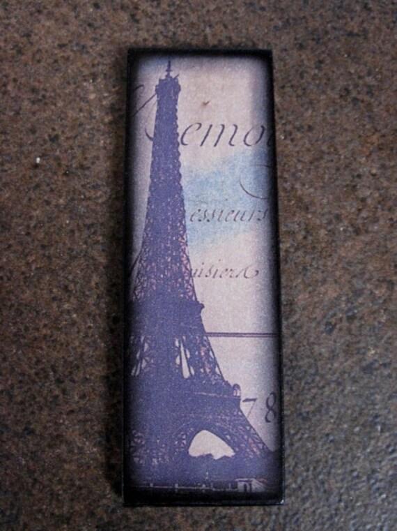 Eiffel Tower Pendant 1X3 Custom Drilled Ephemera French Pendant