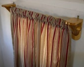 Rustic Log Curtain Rod Support Brackets 1 pair