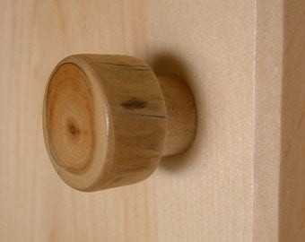 Log Cabin Knob - Rustic Cabinet Door Knob Hardware for Kitchen, Bath or Furniture