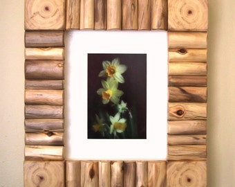 Log 8 x 10- Inch Picture or Photo Frame - Artful Rustic Wood Frame - Outside Measurement approx 13 5/8 x 15 5/8- Inch