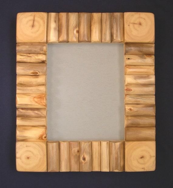 "Aspen Mountain Log Cabin Framed Mirror - Frame approx 13 5/8"" x 15 5/8"""