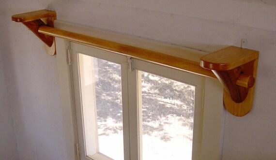 Amanda S Rustic Log Curtain Rod Support Brackets And Log