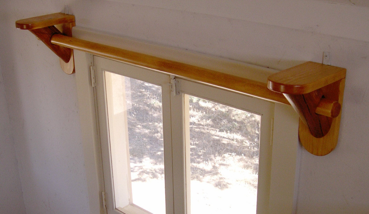 Image Result For Wood Shelfckets With Curtain Rod