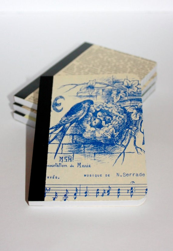 Small notebook - 80 pages, upcycled covers