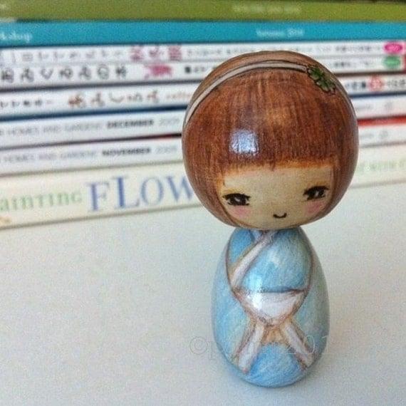 Kokeshi doll, Euka, wooden doll.