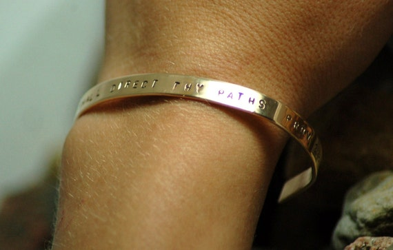 Your Choice of Wording Personalized Hand Stamped Bracelet FREE SHIPPING