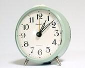 Vintage Russian mechanical alarm clock Jantar