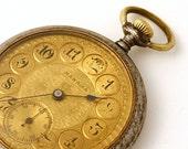 RARE Antique Pocket Watch Mawrika gold color pocket watch