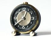 RARE vintage Russian mechanical alarm clock Slava from Soviet Union period Blind design