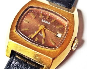 Vintage Russian mechanical wristwatch Zarja from Soviet Union period FREE Shipping