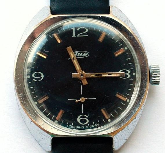 Vintage Russian wristwatch ZIM Pobeda from Soviet Union era