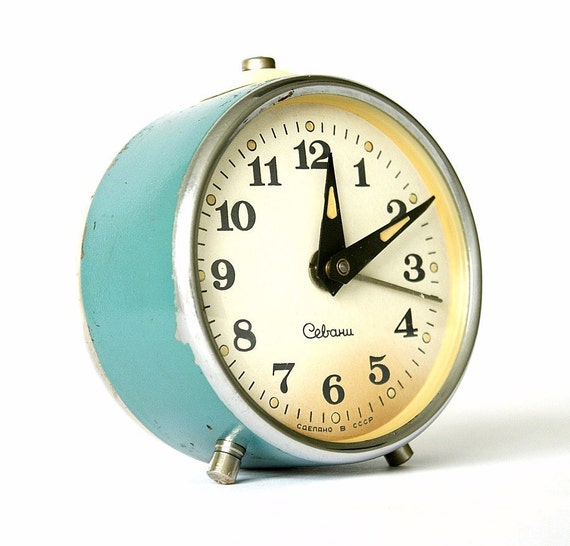 Vintage alarm clock Sevani from Armenia by ClockworkUniverse