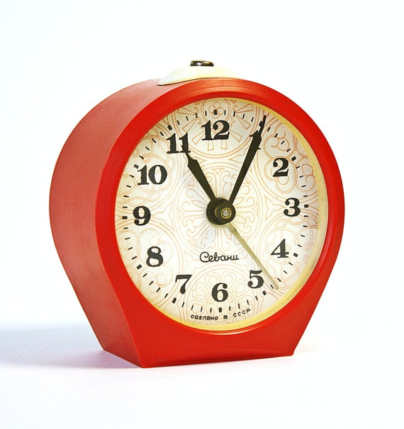 Vintage alarm clock Sevani from Armenia mechanical alarm clock from USSR