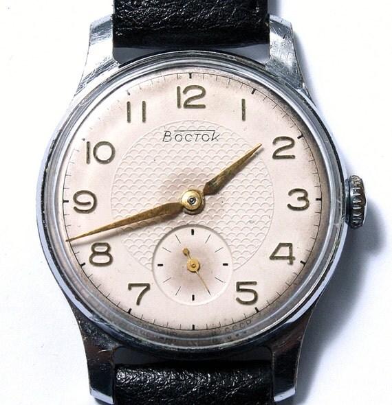 Vintage wrist watch Vostok mens watch men watch