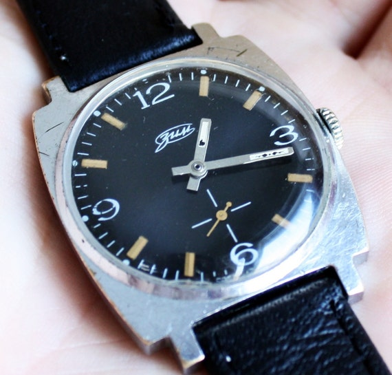 Gifts for men - Vintage soviet Russian mens wristwatch Zim