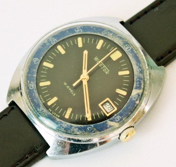 Vintage Soviet Russian Army style Watch Vostok