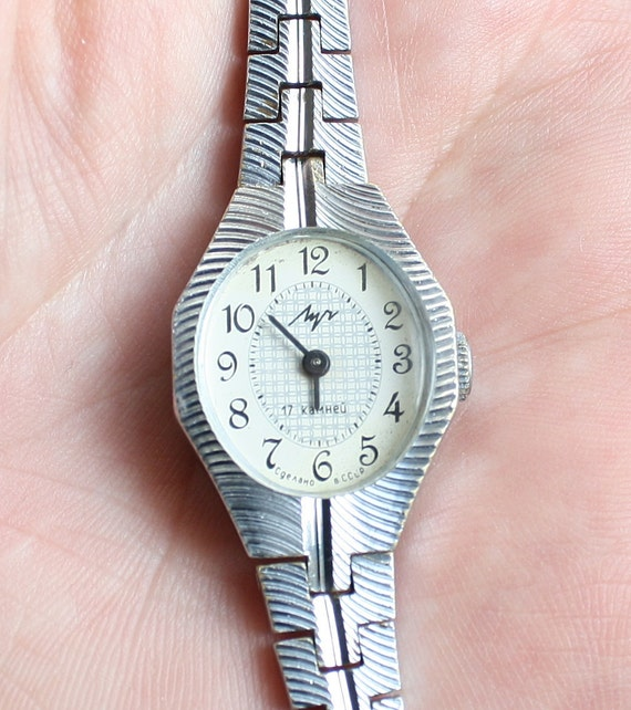 Vintage wristwatch LUCH from Belarus ladies wristwatch