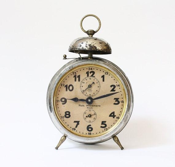 RARE Antique alarm clock Junghans Rob Waldmans