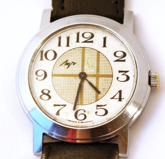 Vintage mechanical wristwatch Luch from Belarus