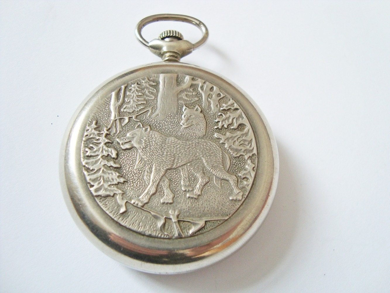 vintage russia molnija wolf mechanical pocket soviet