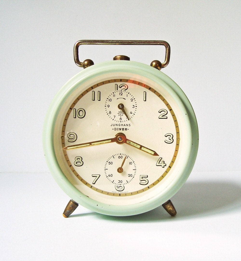 RESERVED Vintage alarm clock Junghans Bivox by ...