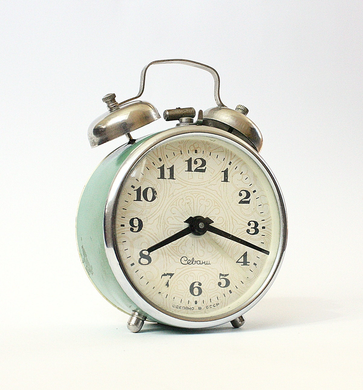 how to set a sharp twin bell alarm clock