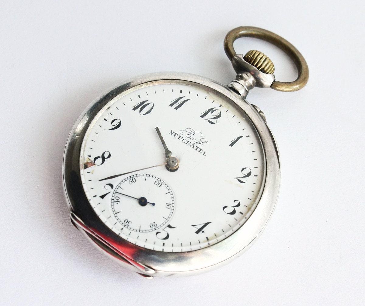 antique swiss pocket borel neuchatel non working
