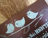 Three Little Birds, nursery wall decor, nursery shower gift, baby gift, nursery wall hanging, nursery decor baby