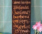 Home Wall Decor, Wine Cellar - Wine List Expressive Word Canvas for kitchen, wine cellar, bar
