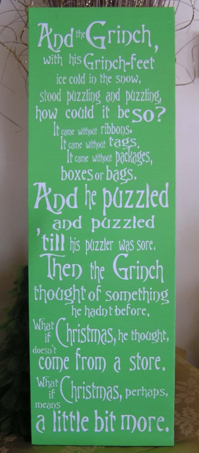 Grinch Fun Expressive Word Canvas Wall By Everlastingdoodle