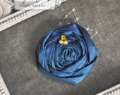 Simply Silk rosette hair clip in Royal Navy  More colors available