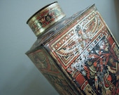 Fry Cocoa Extract Advertising Tin. Egyptian Motif