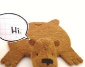 "Reserved for ""Madina', Bear Rug Coaster (tan)"